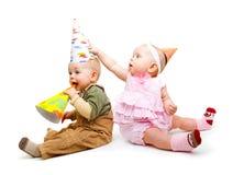 Cabritos en sombreros del partido Fotografía de archivo libre de regalías