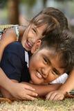 Cabritos felices Fotos de archivo