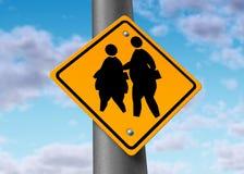 Cabritos gordos obesos del exceso de peso de la obesidad de los alumnos Fotos de archivo libres de regalías