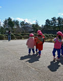 Cabritos japoneses de KindergartenSchool Foto de archivo