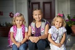Cabritos lindos listos para la escuela Imagenes de archivo