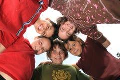 Cabritos locos felices Imagen de archivo