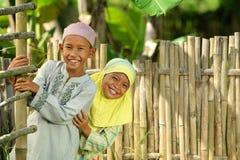 Cabritos musulmanes felices foto de archivo libre de regalías