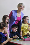 Cabritos preescolares imagen de archivo