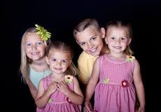 Cabritos sonrientes hermosos Imagenes de archivo