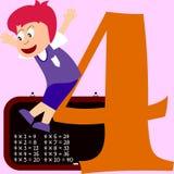 Cabritos y serie de los números - 4 Imagenes de archivo