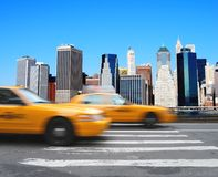 Cabs in Manhattan Stock Images