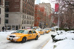 cabs New York Arkivfoto