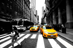 New York Cabs Stock Image