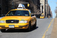 Cabs on park Avenue Royalty Free Stock Images