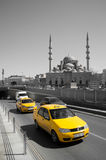 Cabs passing by Stock Photo