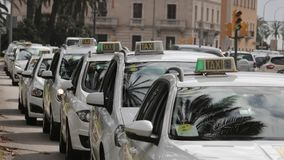 Cabs row Royalty Free Stock Images