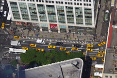 Cabs on the street. Nice view from the Empire State Building Royalty Free Stock Photography