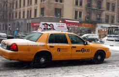 cabstad New York Royaltyfria Foton