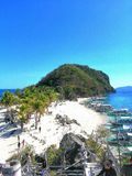 Cabugao Gamay, isla de Gigantes, visión escénica imagen de archivo libre de regalías