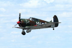 CAC Boomerang - WWII RAAF fighter. POINT COOK, AUSTRALIA - FEBRUARY 26: CAC Boomerang does slow pass at air show on February 26, 2012 at RAAF Museum, Point Cook Royalty Free Stock Image