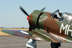 CAC Boomerang - WWII RAAF fighter. POINT COOK, AUSTRALIA - FEBRUARY 26: CAC Boomerang on flight line at air show on February 26, 2012 at RAAF Museum, Point Cook Royalty Free Stock Image