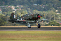 CAC CA-13 Boomerang. Sydney, Australia - April 30: CAC CA-13 Boomerang aircraft participates in the Wings over the Illawarra airshow event April 30, 2016 near Stock Images