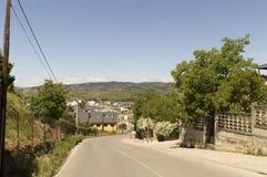 Cacabelos cityscape in Castilla y Leon Stock Image