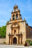 Cacabelos Gr Bierzo door Heilige James Way in Leon Royalty-vrije Stock Afbeeldingen