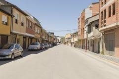 Cacabelos street in Castilla y Leon, Camino Santiago road, Spain Stock Photography
