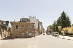 Cacabelos street in Castilla y Leon, Camino Santiago road, Spain Royalty Free Stock Photos