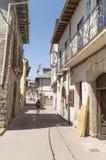 Cacabelos street in Castilla y Leon, Camino Santiago road, Spain Royalty Free Stock Images
