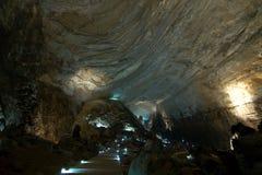 CACAHUAMILPA,墨西哥- 2010年:Grutas de Cacahuamilpa Cacahuamilpa洞 免版税库存图片