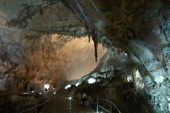 CACAHUAMILPA, MÉXICO - 2010: Cavernas de Grutas de Cacahuamilpa Cacahuamilpa Foto de Stock Royalty Free