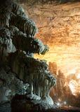 CACAHUAMILPA, MÉXICO - 2010: Cavernas de Grutas de Cacahuamilpa Cacahuamilpa Fotos de Stock Royalty Free