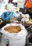 Cacahuetes de las nueces de Brasil del maíz de las habas Foto de archivo libre de regalías