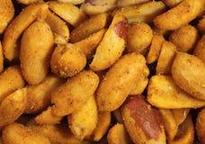 Cacahuetes picantes Foto de archivo libre de regalías