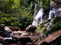 Cacalotenango Waterfall. Northern Guerrero, Mexico. Cacalotenango Waterfall is near Taxco, Guerrero, Mexico. The water falls nearly year around Stock Photo
