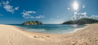 Cacaluta beach in Huatulko, Oaxaca, Mexico Stock Photos