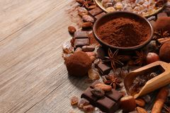 Cacao assortito fotografia stock