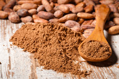 Cacao baclground Stock Photos