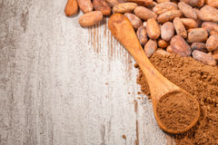 Cacao baclground Royalty Free Stock Photo