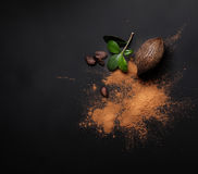 Free Cacao Beans And Powder Isolated Stock Images - 51815534