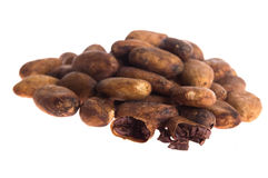 Cacao beans isolated Royalty Free Stock Image