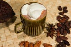 Cacao caldo del fairtrade fotografia stock
