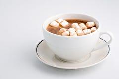 Cacao caliente con las melcochas Fotografía de archivo