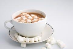 Cacao caliente con las melcochas Foto de archivo libre de regalías