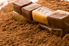 Cacao candy Stock Photography