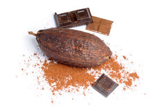 Cacao and chocolate Stock Image