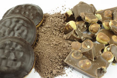 Cacao and chocolate Royalty Free Stock Photos