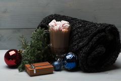 Cacao or chocolate with marshmallows Stock Photo