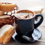 Cacao con crema Fotografie Stock