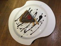 Cacao cru Tarte de mousse de chocolat Images libres de droits