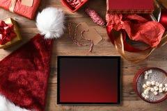 Cacao de la tableta de los regalos de Navidad Foto de archivo