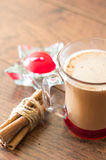 Cacao drink in the mug Stock Photos